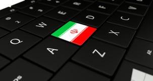 Feche acima do botão de Irã Foto de Stock Royalty Free