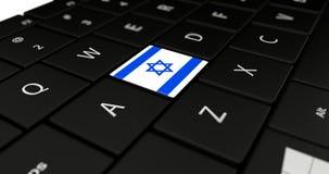 Feche acima do botão de Israel Fotografia de Stock Royalty Free