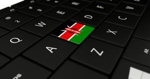 Feche acima do botão de Kenya Imagens de Stock