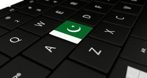 Feche acima do botão de Paquistão Fotos de Stock