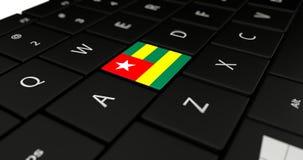 Feche acima do botão de Togo Fotografia de Stock