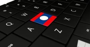 Feche acima do botão do Lao Fotografia de Stock Royalty Free