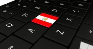 Feche acima do botão do Peru Fotos de Stock Royalty Free