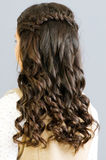 Feche acima do cabelo da mulher Foto de Stock