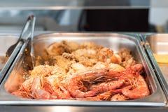 Feche acima do camarão fritado Imagem de Stock