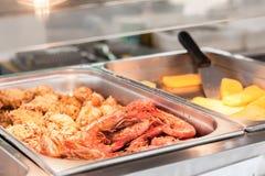 Feche acima do camarão fritado Imagem de Stock Royalty Free