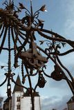 Feche acima do castelo dos duques de DES Ducs de Bretagne de Brittany Chateau em Nantes, Fran?a imagem de stock royalty free