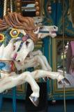 Feche acima do cavalo do carrossel Imagens de Stock Royalty Free
