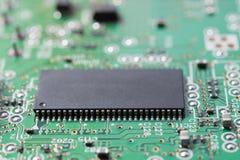 Feche acima do circuito eletrônico Foto de Stock