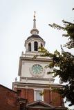 Feche acima do clocktower no salão da independência fotos de stock royalty free