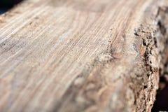 Feche acima do detalhe de madeira serrada recentemente moída fotos de stock