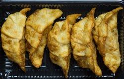 Feche acima do dim sum japonês fritado Fotografia de Stock