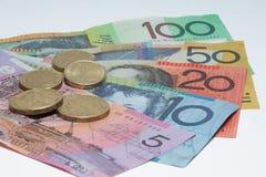 Feche acima do dinheiro macro das notas do australiano Imagem de Stock Royalty Free