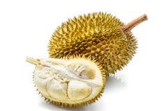 Feche acima do durian descascado Imagem de Stock Royalty Free