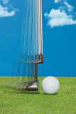 Feche acima do embocador de um jogador de golfe Imagem de Stock Royalty Free