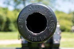 Feche acima do focinho de um canhão da guerra civil Imagens de Stock