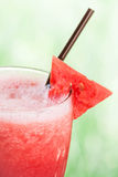 Feche acima do frappe do suco de fruto da melancia Fotos de Stock Royalty Free