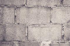 Feche acima do fundo da parede de tijolo do bloco de cimento Fotografia de Stock Royalty Free