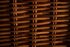 Feche acima do fundo da textura do weave de cesta de vime Fotos de Stock