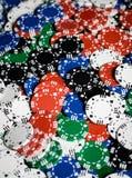 Feche acima do fundo das microplaquetas do casino Fotografia de Stock Royalty Free