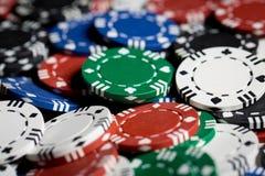 Feche acima do fundo das microplaquetas do casino Imagem de Stock Royalty Free