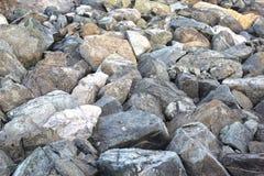 Feche acima do fundo rochoso da textura da costa 22 de julho de 2017 Fotografia de Stock Royalty Free