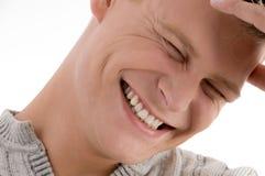 Feche acima do homem considerável de sorriso Imagens de Stock Royalty Free