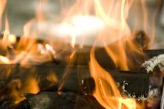 Feche acima do incêndio Fotos de Stock Royalty Free