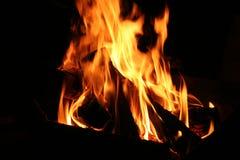 Feche acima do incêndio Imagens de Stock Royalty Free