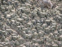 Feche acima do lago de sal seco Fotografia de Stock Royalty Free