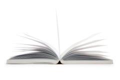 Feche acima do livro aberto isolado Imagens de Stock