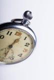 Detalhe arrastado velho do macro do relógio de bolso fotografia de stock