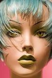 Feche acima do manequim do estilo do salão de beleza do cabelo Imagens de Stock