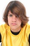 Feche acima do menino adolescente Fotografia de Stock