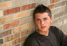 Feche acima do menino adolescente novo considerável Imagem de Stock Royalty Free