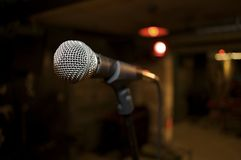Feche acima do microfone Fotografia de Stock