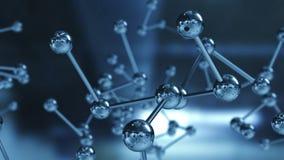 Feche acima do modelo de estrutura molecular ilustração 3D imagens de stock royalty free
