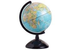 Feche acima do modelo do globo isolado no branco fotos de stock royalty free