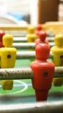 Feche acima do número um jogo de futebol do tampo da mesa Fotografia de Stock Royalty Free
