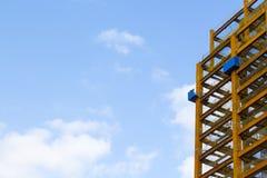 Feche acima do olhar no canteiro de obras Foto de Stock Royalty Free