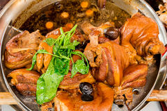 Feche acima do pé cozido da carne de porco Imagens de Stock