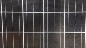 Feche acima do painel solar video estoque