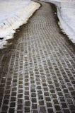 Feche acima do pavimento do cobblestone Foto de Stock Royalty Free