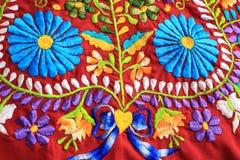 Feche acima do projeto mexicano do bordado Imagem de Stock Royalty Free