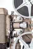 Feche acima do projetor de filme do vintage 8mm Fotografia de Stock