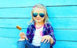 Feche acima do retrato da criança da menina Fotografia de Stock Royalty Free