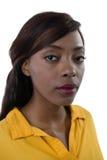 Feche acima do retrato da jovem mulher com compõem Foto de Stock Royalty Free