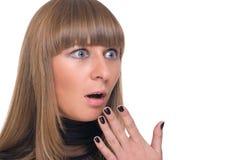 Feche acima do retrato da mulher de negócio bloqueada Imagem de Stock