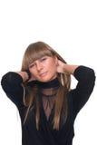 Feche acima do retrato da mulher de negócio de sonho nova Imagens de Stock Royalty Free