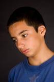 Feche acima do retrato de um adolescente triste Imagens de Stock Royalty Free